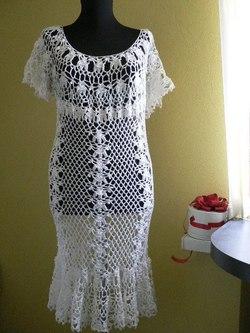 Летние платья, связанные крючком.