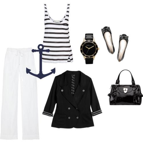 Морской стиль в одежде.