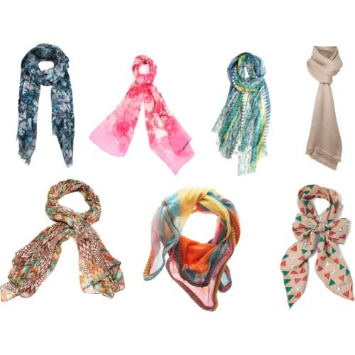 Модные шарфы фото