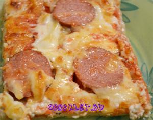 Пицца с сосиской