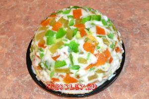 Торт Битое стекло с фруктами