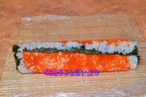 Роллы рисом наружу