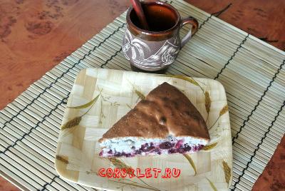 Вкусный пирог с вишнями