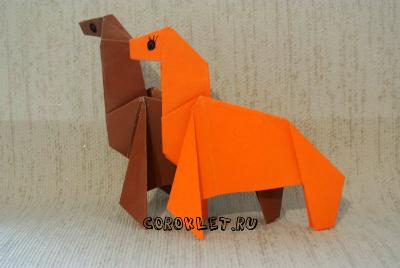 Лошадки оригами схема