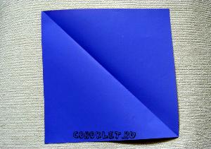 Лошадь оригами схема