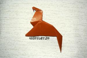 Свернуть оригами лошадку
