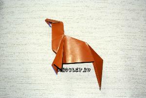 Оригами лошадь из бумаги