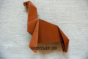 Сделать оригами лошадь