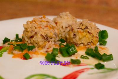 Тефтели с рисом и подливкой