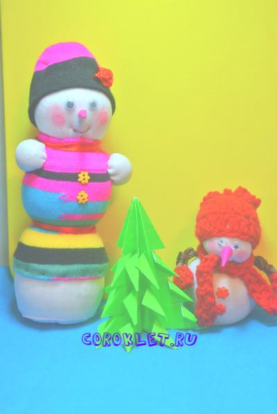 Своими руками фото снеговик