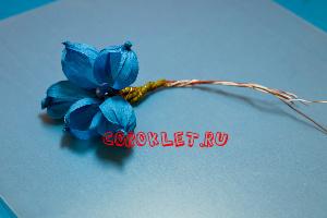 Цветы из гофрированной бумаги шаблоны