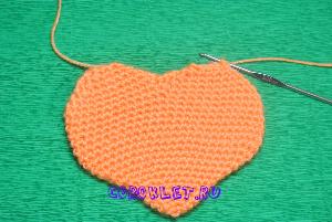 Вязание сердечка