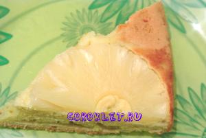Выпечка консервированные ананасы