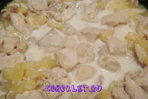 Курица карри в кокосовом молоке