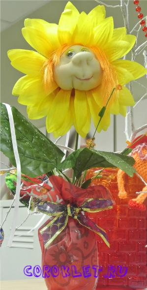 Куклы цветы из капрона