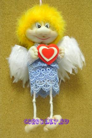Ангел из капрона мастер класс