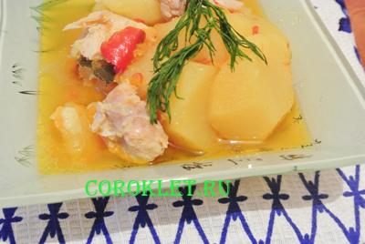 Куриные грудки с картошкой в мультиварке-скороварке