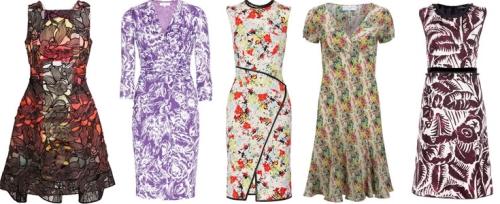 Модные платья с цветочным принтом