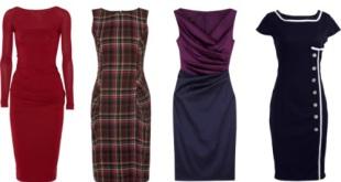Платье-футляр для полных женщин