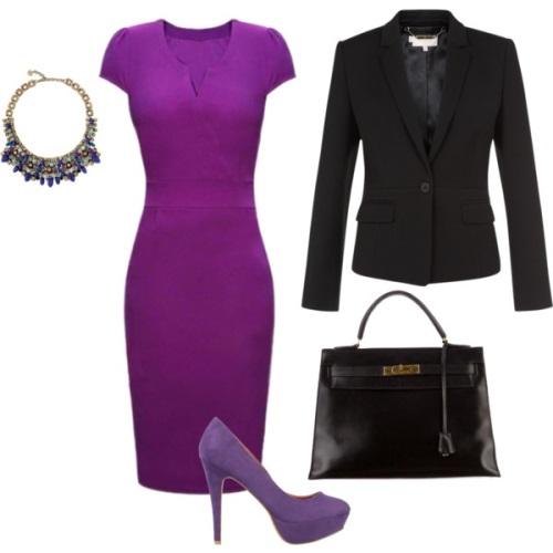 Платье-футляр обувь аксессуары