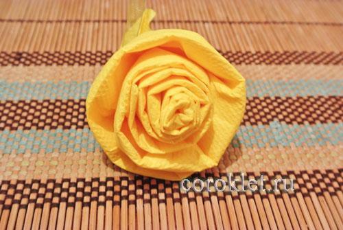 Роза из салфетки инструкция