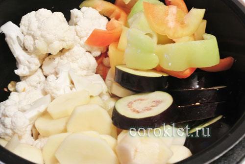 Рецепт овощного рагу для мультиварки