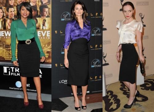 Модные женские черные юбки
