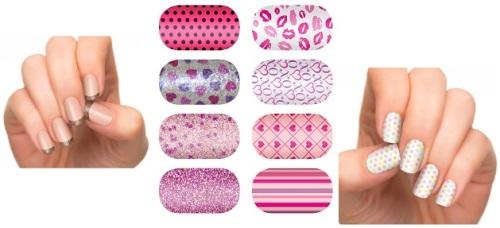 Лаковые наклейки для ногтей