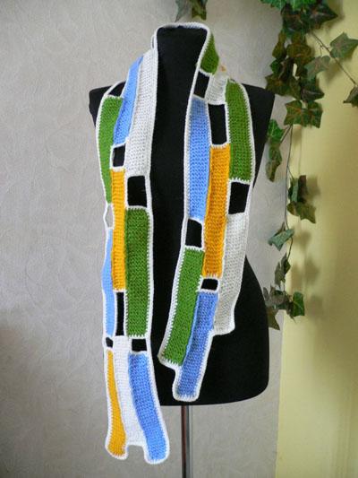 Как вязать шарф крючком