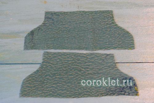 Ботиночки из ткани