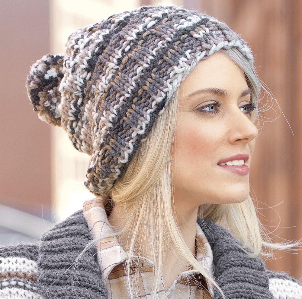 Вязание шапок нет из ниток меланж 61