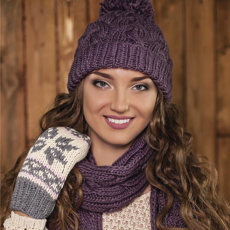 Вязание шапочки с косой 26